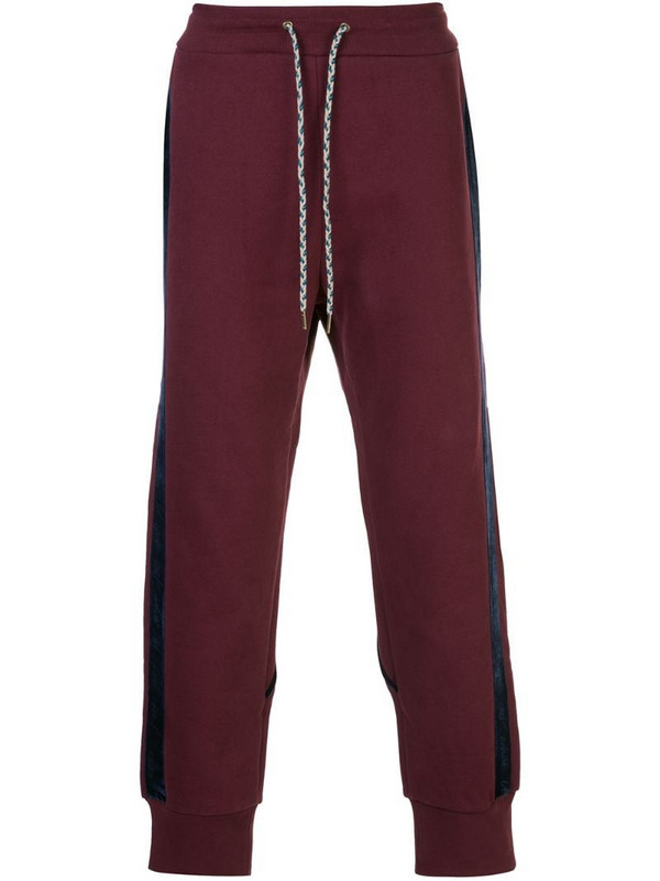 Vivienne Westwood two-tone track trousers in red