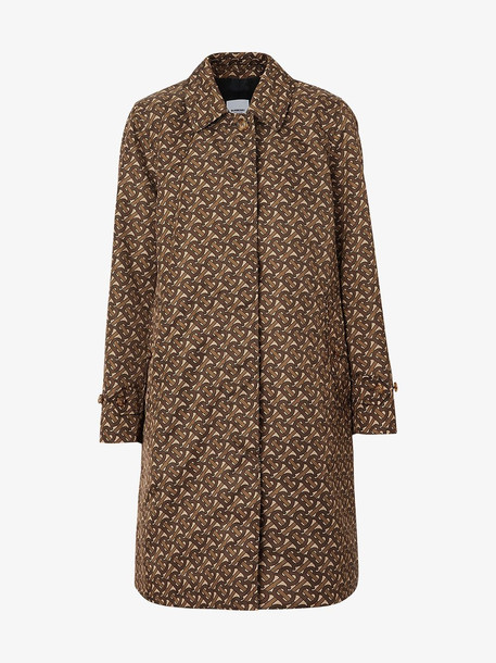 Burberry Keatsbridge single-breasted Monogram print coat