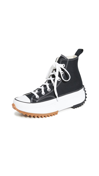 Converse Run Star Hike Hi Sneakers in black / white