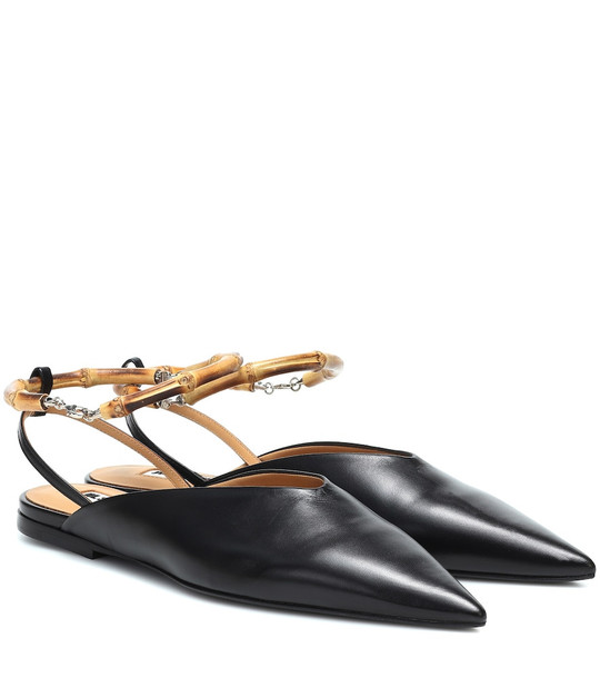 Jil Sander Leather mules in black