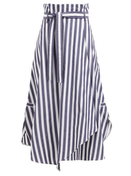 Weekend Max Mara - Biella Skirt - Womens - Navy White