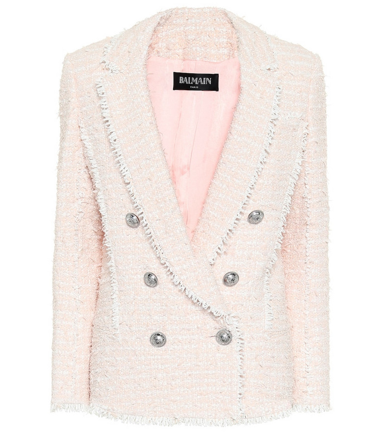 Balmain Tweed blazer in pink