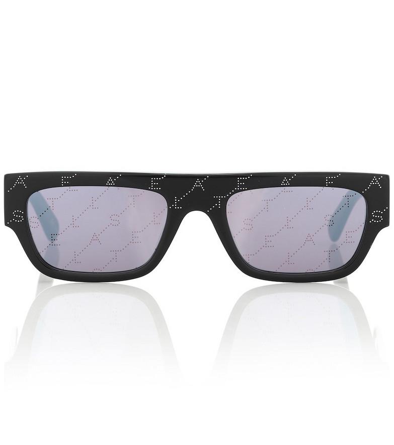 Stella McCartney Monogram rectangular sunglasses in black