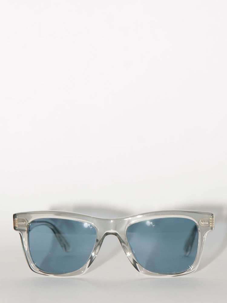 OLIVER PEOPLES Lvr Exclusive Rectangular Sunglasses in blue / clear