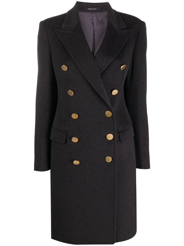 Tagliatore double-breasted coat in grey