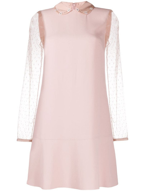 RedValentino Peter Pan collar dress in pink