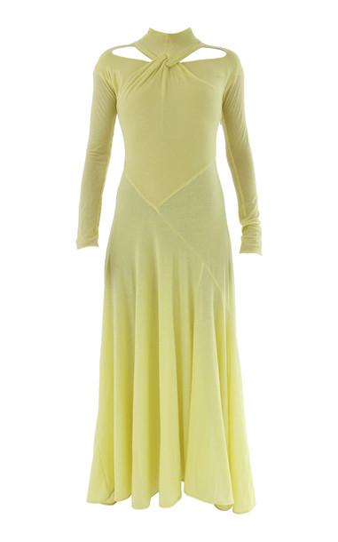Rejina Pyo Maia Cutout Twisted Jersey Maxi Dress in yellow
