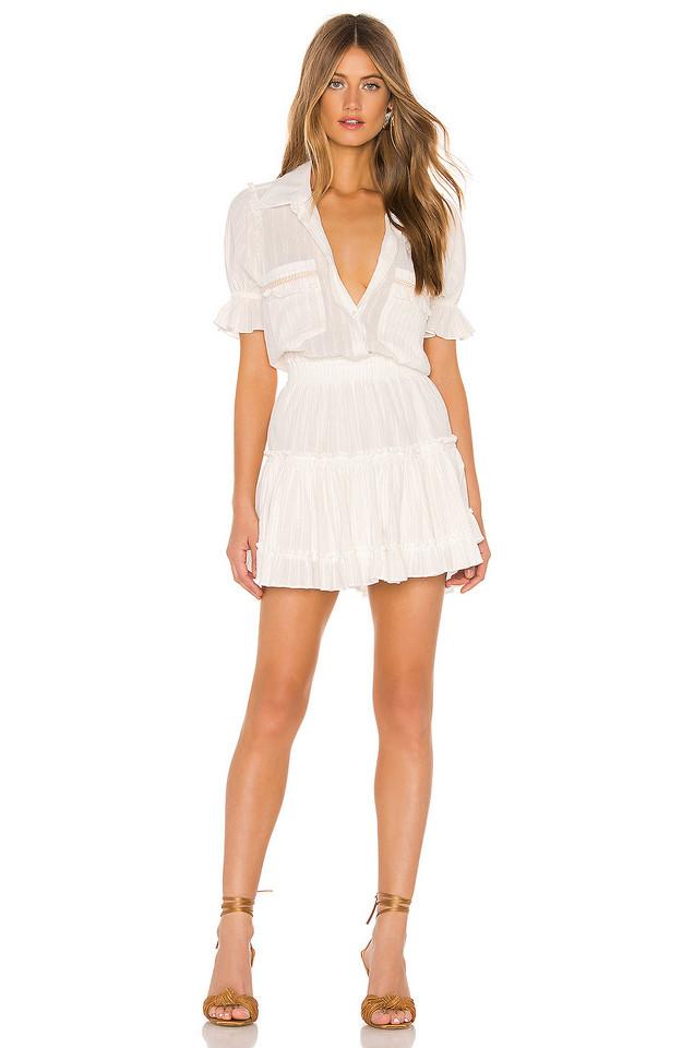 MISA Los Angeles Giedra Dress in white