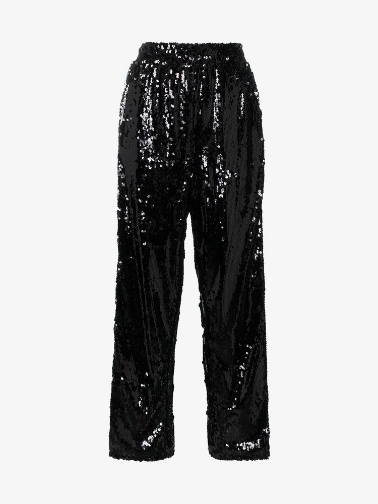 Faith Connexion sequin embellished split trousers in black