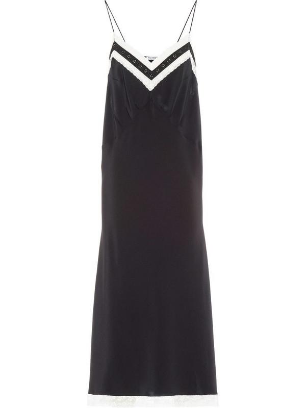 Miu Miu lace-panelled slip dress in black