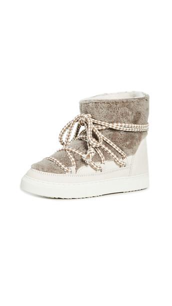 Inuikii Curly Shearling Sneakers in taupe