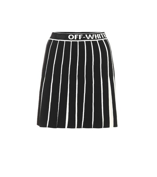 Off-White Pleated miniskirt in black