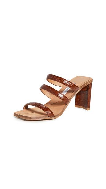 Miista Joanne Clay Croc Sandals in brown