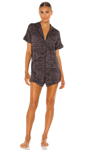 Rails Nessa Pajama Set in Black in charcoal