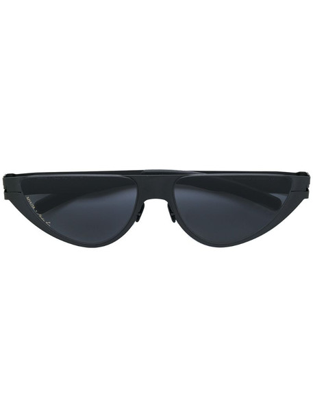 Mykita x Martine Rose cat eye frame sunglasses in black