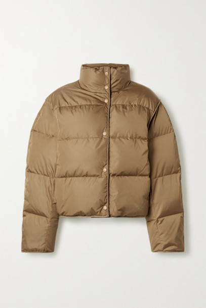 Acne Studios - Net Sustain Oliviera Cropped Quilted Shell Down Jacket - Light brown