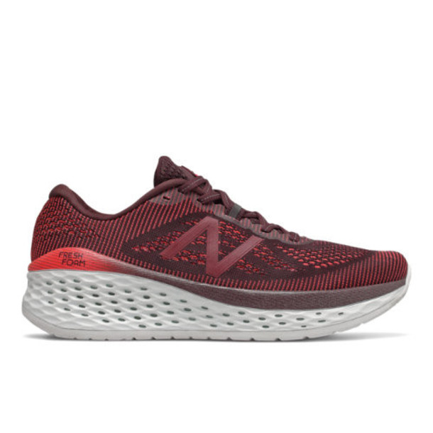 New Balance Fresh Foam More Men's Neutral Cushioned Shoes - Purple/Red (MMORHN)