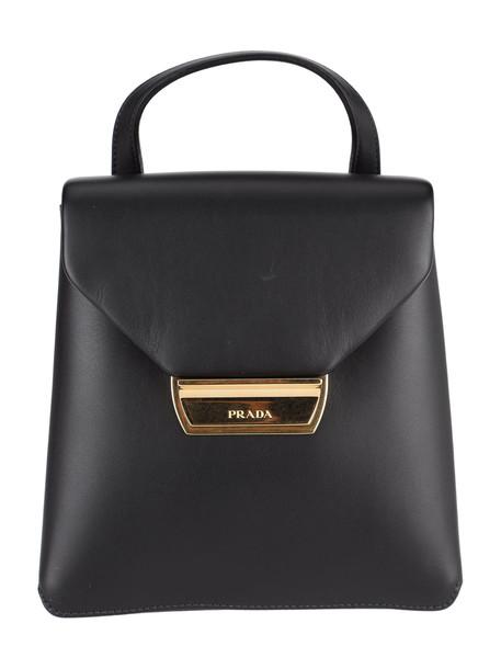 Prada Mini Plaque Backpack in black