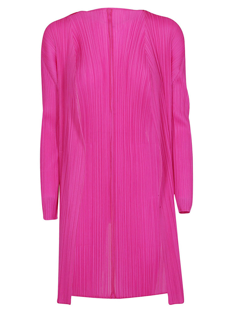 Issey Miyake Pleated Cardi-coat in pink
