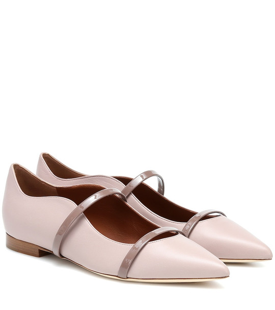 Malone Souliers Maureen leather ballet flats in pink