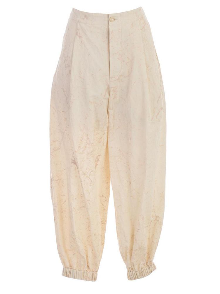 Uma Wang Pants Skinny in tan / white
