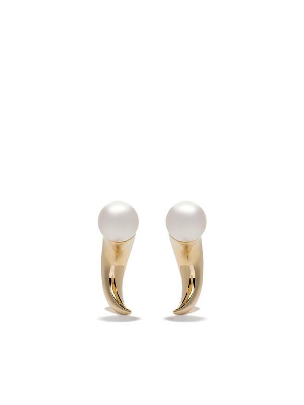 TASAKI 18kt yellow gold Refined Rebellion horn earrings
