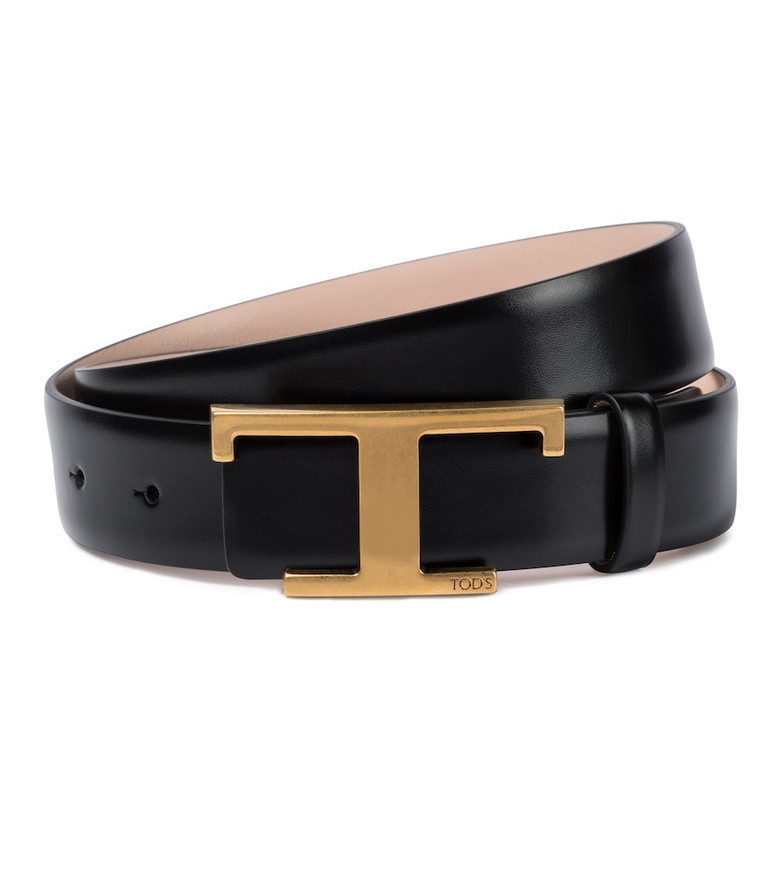 Tod's Timeless T reversible leather belt in black