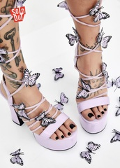 shoes,lace up,purple,butterfly heels,doll skill,sugar thrillz,pixie queen lace up heels,heels,lace up heels,dolls kill,butterfly,dollskill