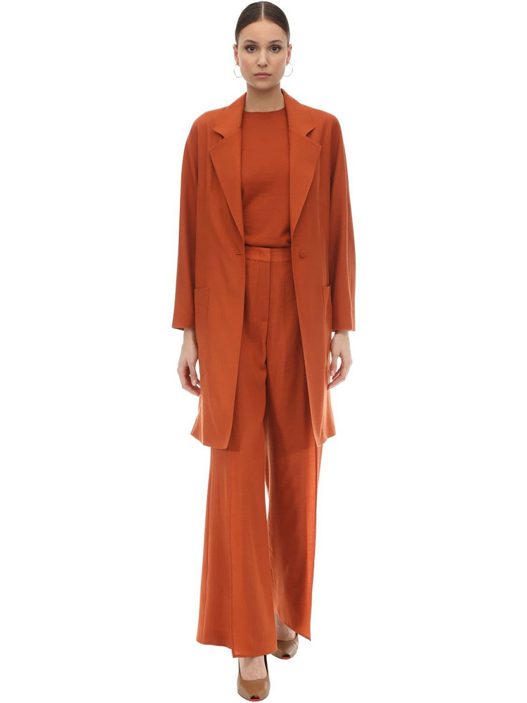 AGNONA Wool & Cashmere Coat in orange