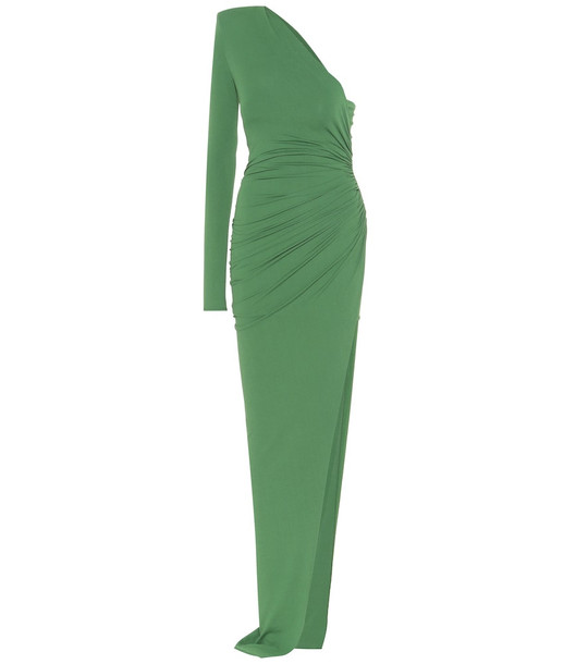 Alexandre Vauthier One-shoulder jersey gown in green