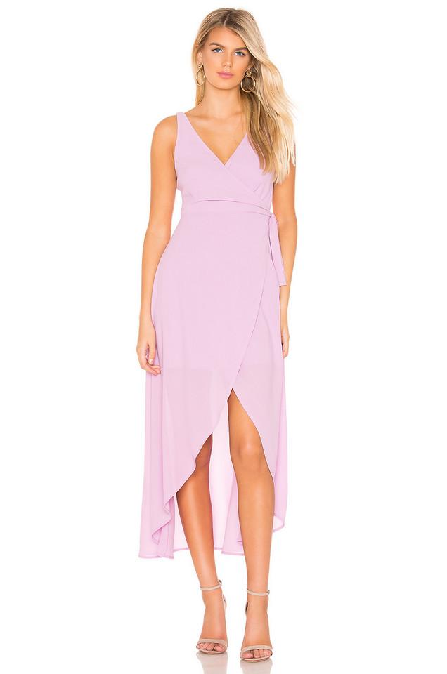 Line & Dot Rona Wrap Dress in lavender
