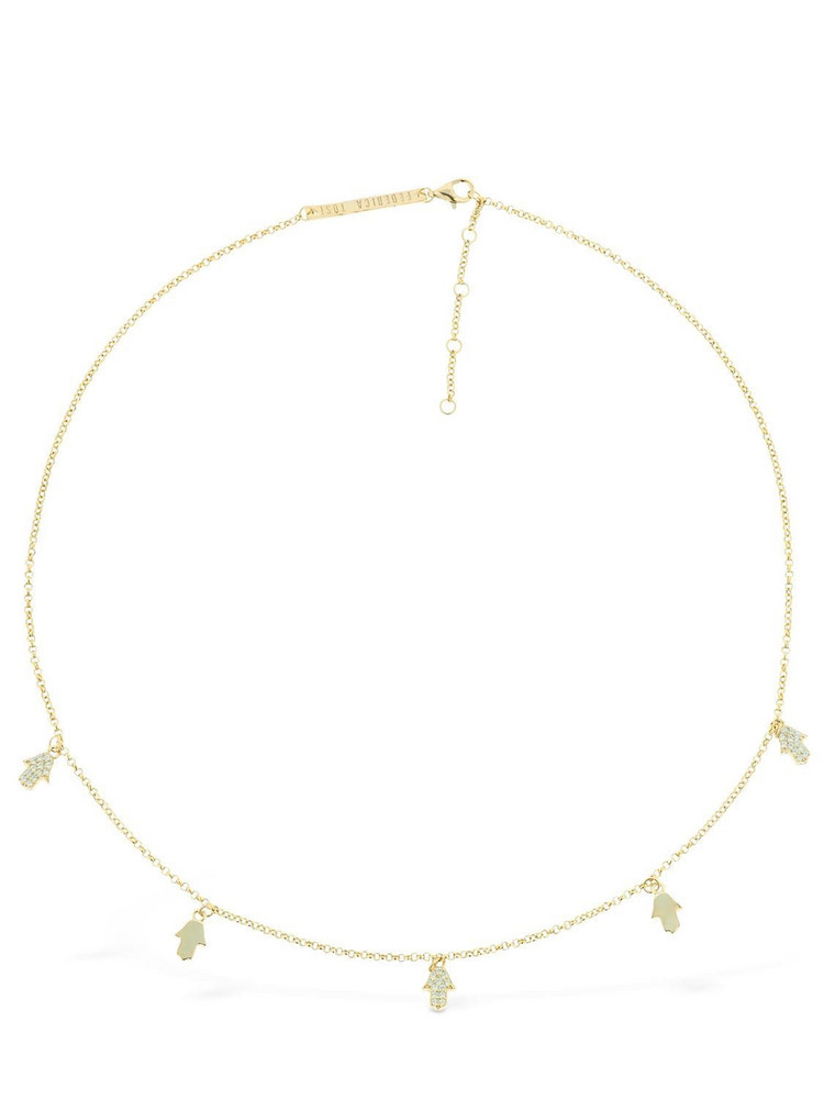 FEDERICA TOSI Lace Hand Short Necklace in gold