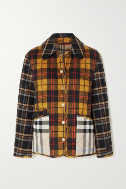 Burberry - Checked Quilted Cotton Jacket - Brown