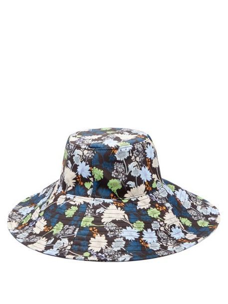 Ganni - Floral-print Canvas Bucket Hat - Womens - Multi