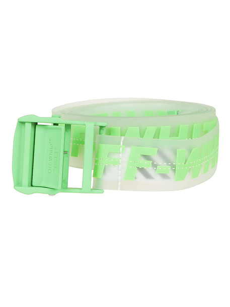 Off-white Logo Industrial Belt in green / transparent