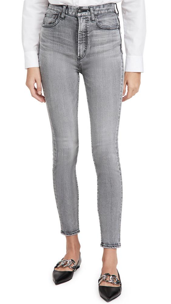 MOUSSY VINTAGE Carmel Rebirth Skinny High Jeans in black