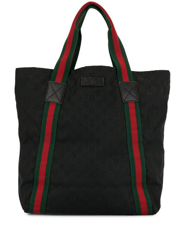 Gucci Pre-Owned Shelly Line GG tote in black