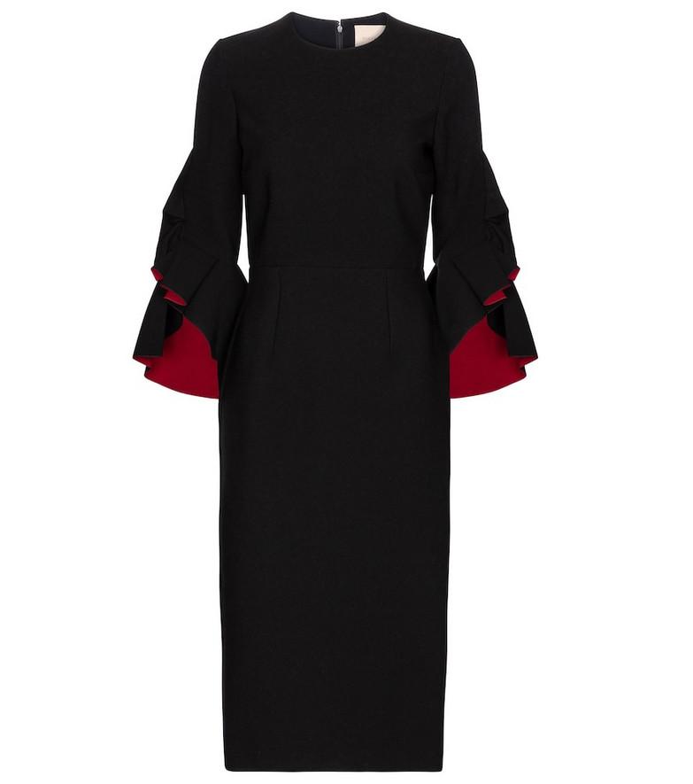 Roksanda Ardemia crêpe midi dress in black