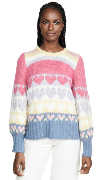LOVESHACKFANCY Shirelle Pullover in pink