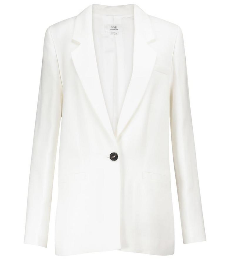 Victoria Victoria Beckham Single-breasted blazer in white