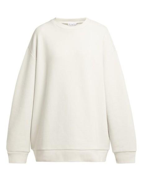 Raey - Crew Neck Japanese Jersey Sweatshirt - Womens - Grey