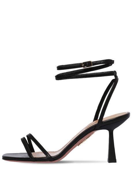 AQUAZZURA 75mm Isabel Leather Sandals in black