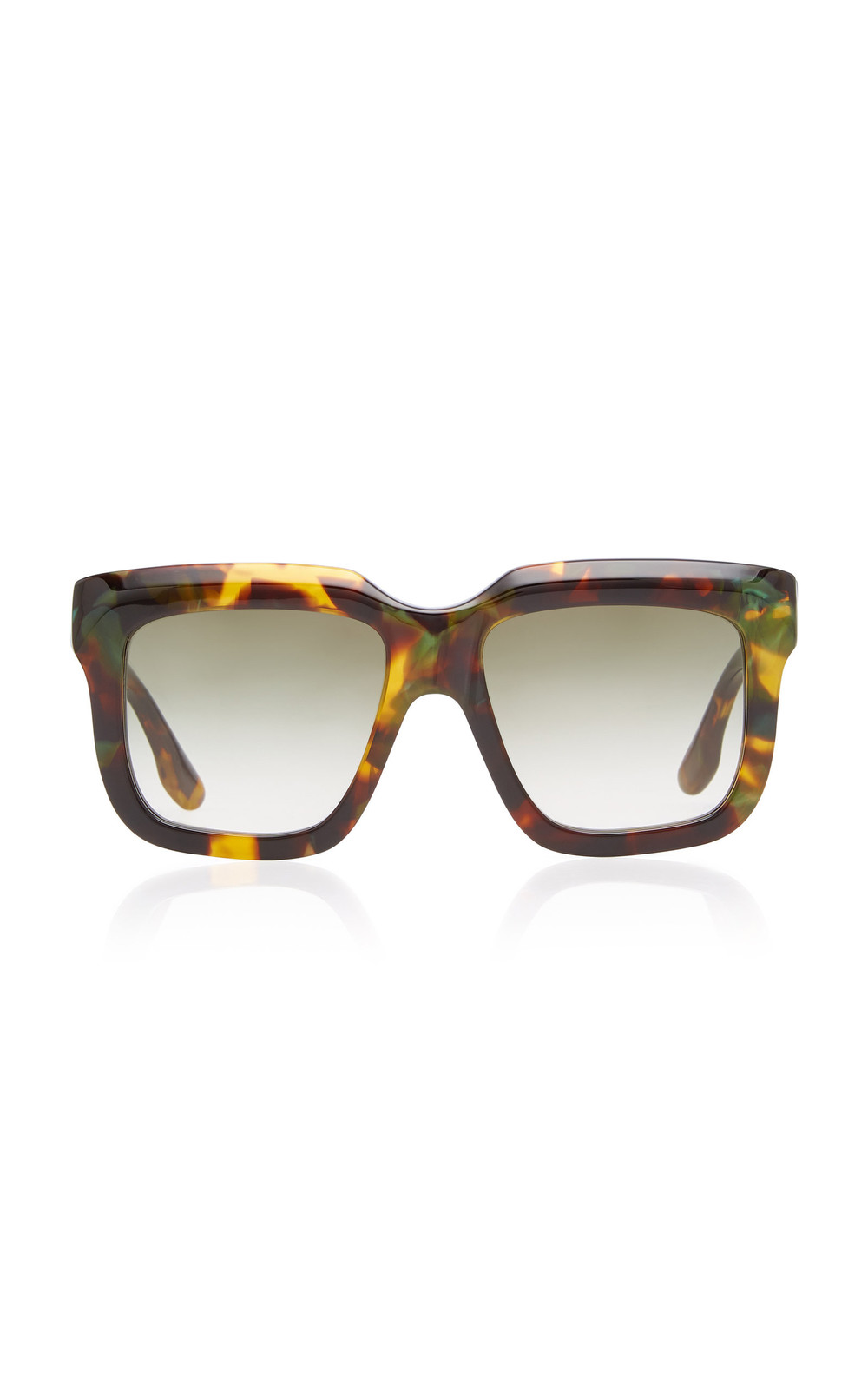 Victoria Beckham Oversized Square-Frame Acetate Sunglasses in brown
