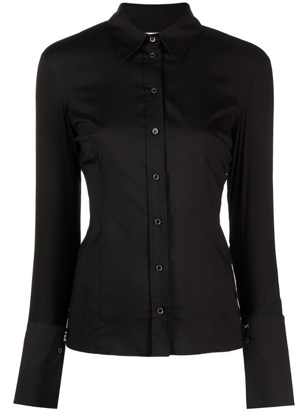 Patrizia Pepe fitted buttoned shirt in black