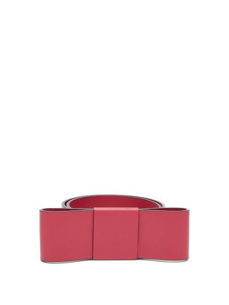 Marni - Bow Leather Belt - Womens - Red