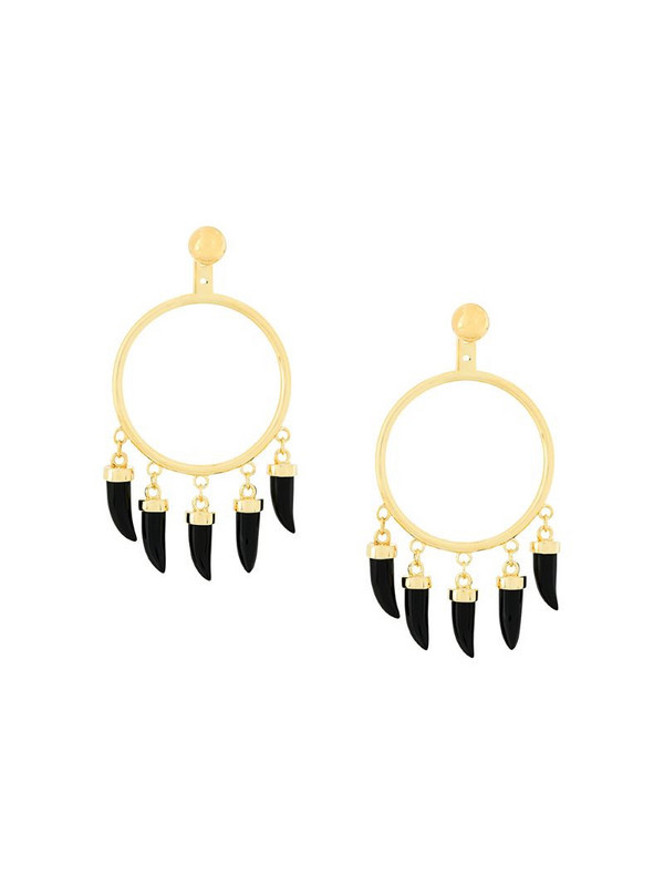 Eshvi Capsule earrings in metallic