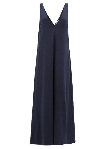 The Upside - Zen V-neck Wide-leg Jumpsuit - Womens - Navy