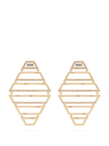 Susan Foster - Diamond & Yellow Gold Earrings - Womens - Gold