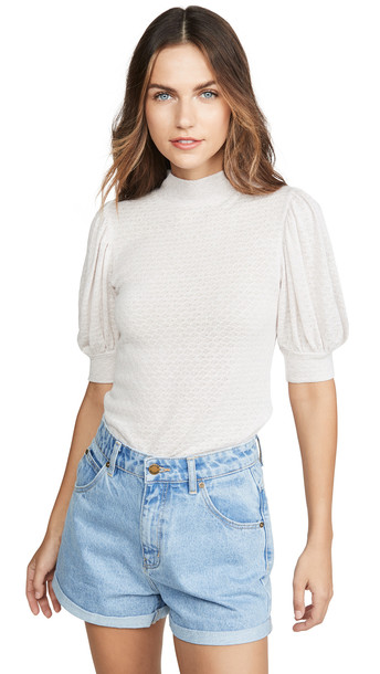 Free People Good Luck Tee in pink