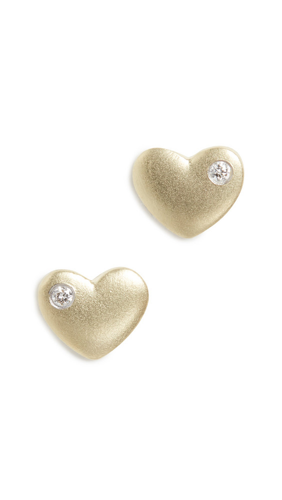 Meira T 14k Heart Earrings in gold / yellow